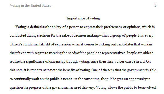 Voting in the United States