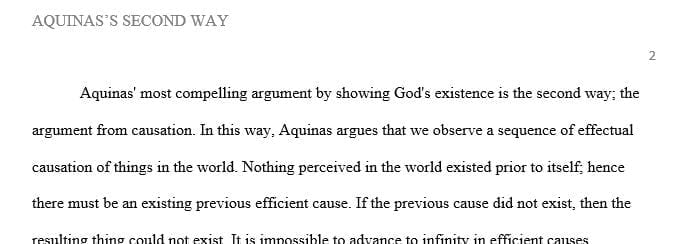 In this article Aquinas presents his five arguments for the existence of God.