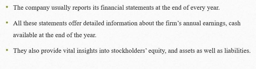 Interpretthosefinancialstatementsfor adiversegroupofstakeholders.