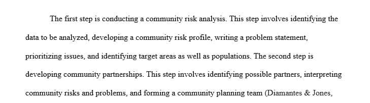 Identify the steps in public fire education planning.