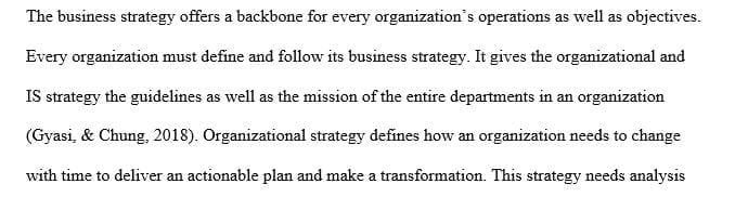 Why is it important for business strategy to drive organizational strategy and IS strategy